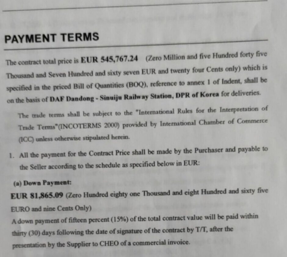 Document allegedly showing some of the terms of the deal between Huawei, Panda and North Korea - Blockbuster report claims Huawei sold American technology to North Korea