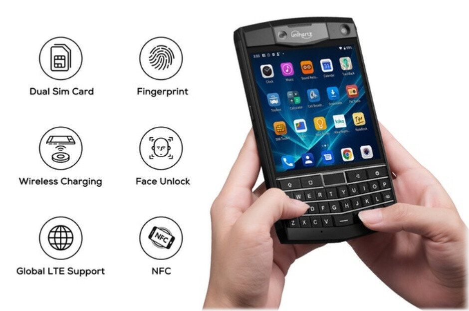 Unihertz Titan phone with QWERTY keyboard and rugged design smashes Kickstarter goal in minutes