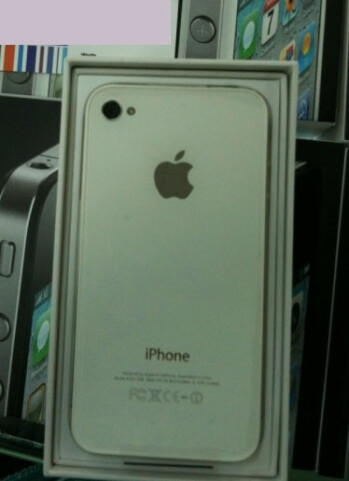 The Apple iPhone 4 in white can be found for now in China
