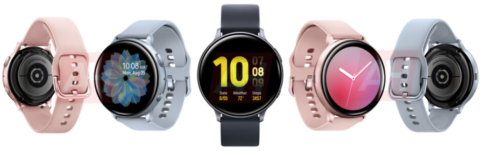 Images showing all colors and angles of the Samsung Galaxy Watch Active 2 - Leaked images show the Samsung Galaxy Watch Active 2 from all angles