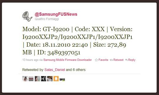 Tweet leaks unknown Samsung GT-i9200