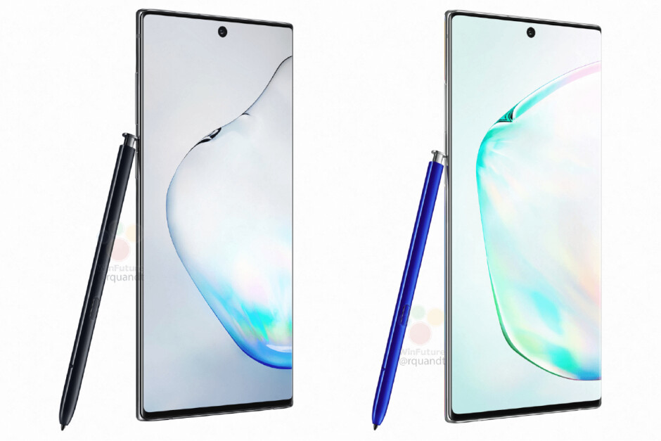 Leaked Samsung Galaxy Note 10 renders - All Galaxy Note 10 models except Verizon's may use Exynos chips