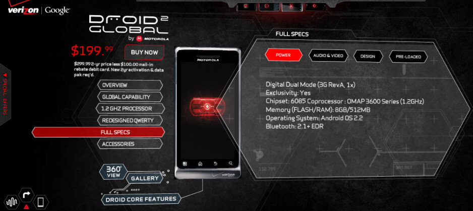 The Motorola DROID 2 Global is the first handset to feature a 1.2GHz processor under the hood - Verizon introduces Motorola DROID 2 Global for $199.99 after rebate and signed pact