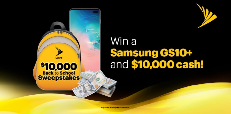 Win a Samsung Galaxy S10+ and $10,000 from Sprint - Win a Samsung Galaxy S10+ and $10,000 in Sprint's new sweepstakes (U.S. residents only)