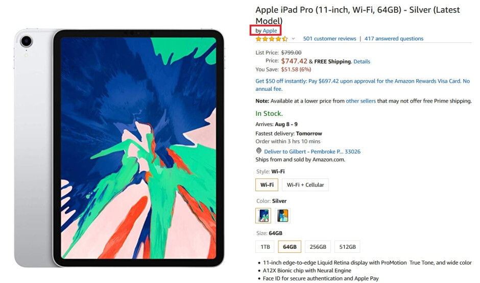 Amazon sells Apple devices sourced directly from the company, like this iPad Pro model - Amazon's supply deal with Apple could be illegal; FTC will investigate