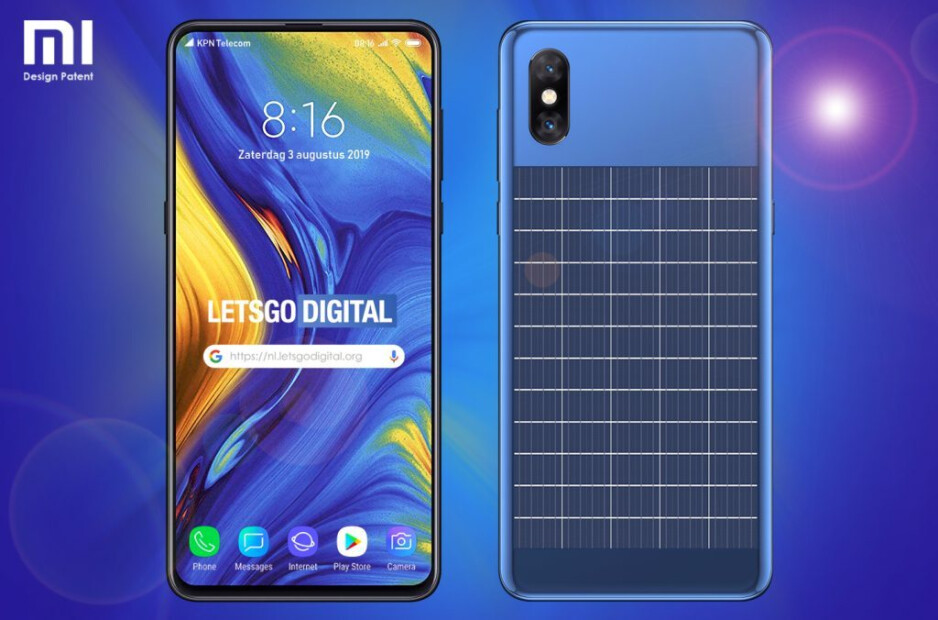 LetsGo Digital's render based on Xiaomi's patent - Xiaomi looks to improve on Samsung and LG's use of eco-friendly charging