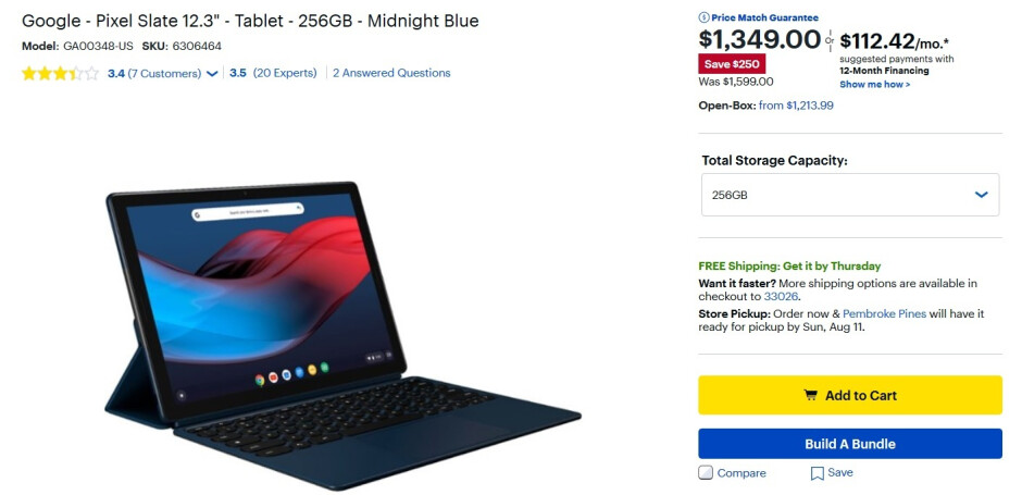 Best Buy, Amazon and the Google Store all have deals on the Google Pixel Slate tablet - Save $250 on the Google Pixel Slate at Amazon and Best Buy