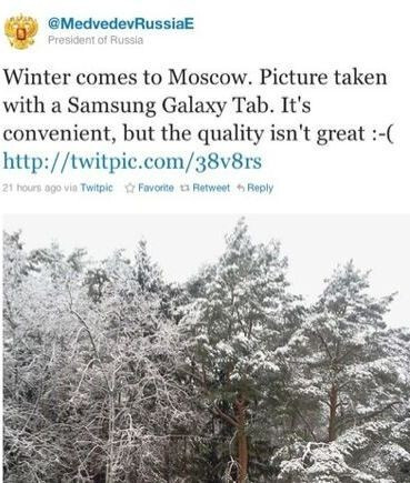 Russian President Dmitry Medvedev disses the Galaxy Tab's camera
