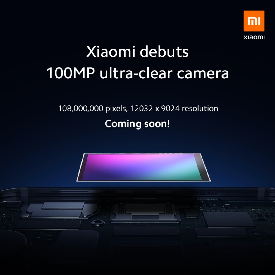 """Samsung's 108MP camera sensor will debut on a future Xiaomi handset - First smartphone equipped with a 108MP camera is """"coming soon"""" according to a teaser"""