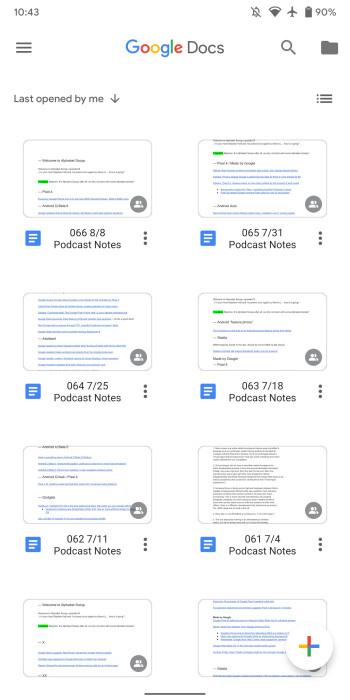 Google Docs, Sheets und Slides für Android erhalten eine Neugestaltung des Material-Themas