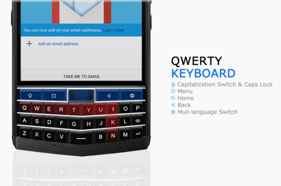 The physical QWERTY keyboard on the Unihertz Titan - Unihertz Titan raises over $600K on Kickstarter, will ship in December