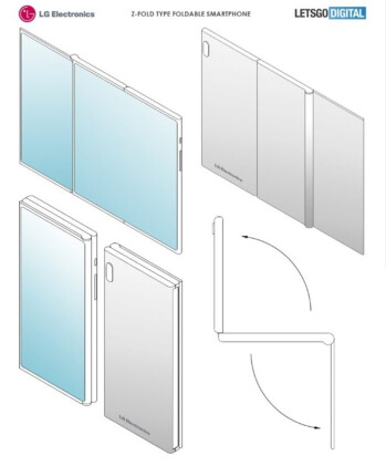 Images from LG's patent application - LG files another patent application for a foldable phone