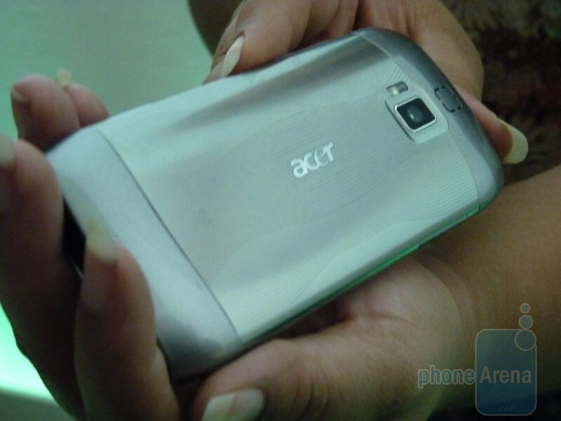 "Acer's upcoming 4.8"" smartphone. - Acer unveils its line of tablet offerings in New York City"