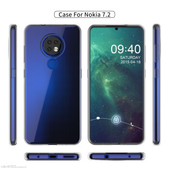 More Nokia 7.2 case renders show thin body, triple camera, waterdrop notch