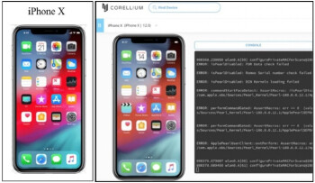 A Real Apple iPhone X and Corellium's virtual copy side-by-side - Apple sues company that sells a virtual iPhone complete with iOS
