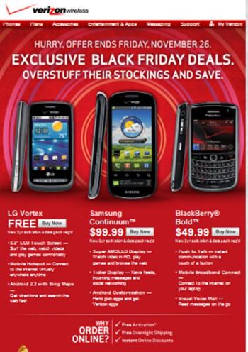 Verizon shows off a Black Friday promo