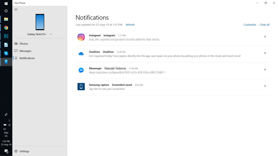 How to link the Galaxy Note 10 to a Windows computer – notifications and messages on your PC!