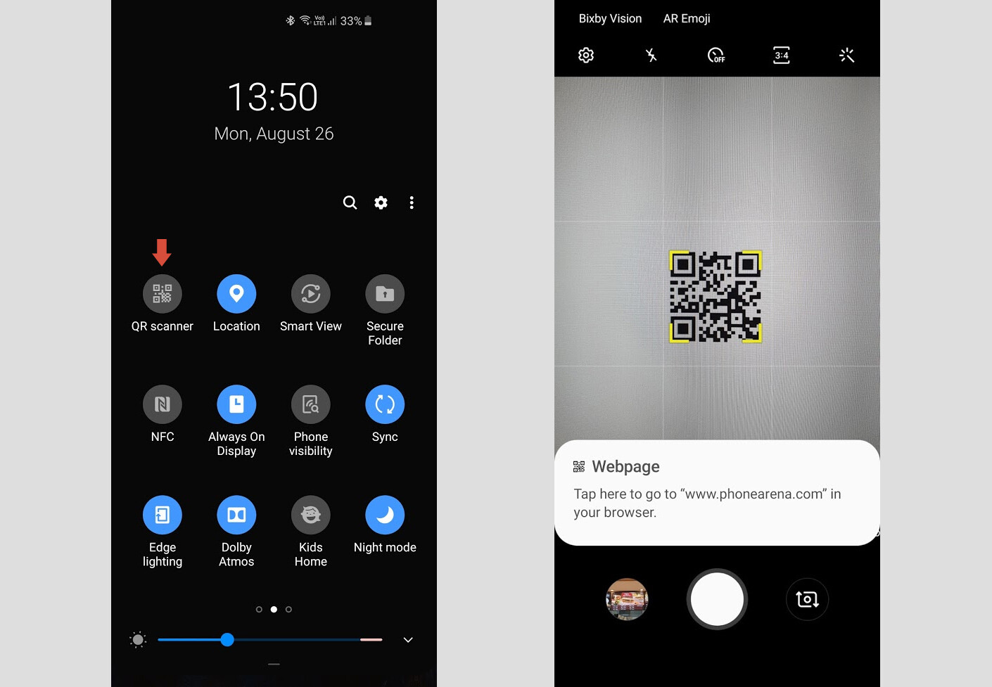 Samsung has built a QR code scanner into the stock Camera app in One UI - How to scan QR codes and barcodes on iPhone and Android