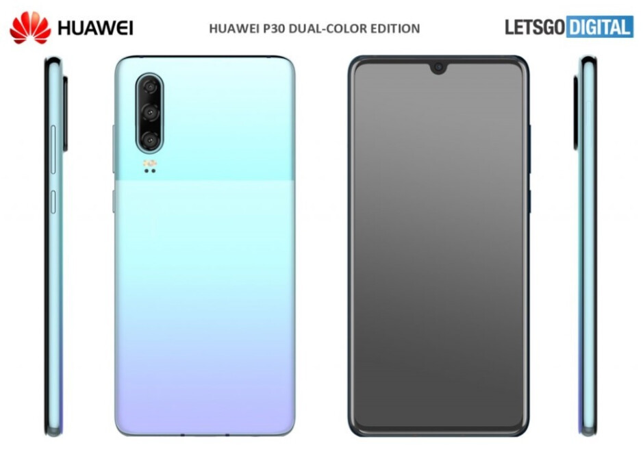 One of the new colors that Huawei could announce next week for the Huawei P30 - Huawei P30 could get two new color options next week