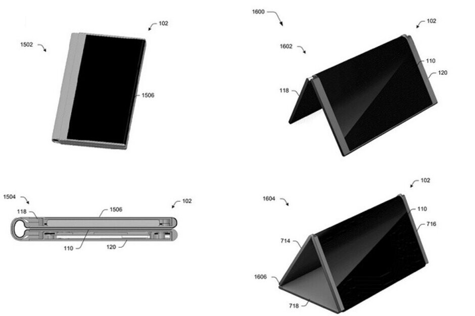 The Centaurus device might come with five pre-set screen positions - Two new patents surface related to Microsoft's rumored Centaurus foldable device