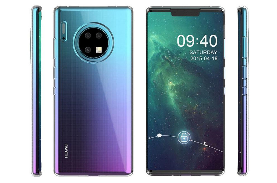 Renders of the Huawei Mate 30 Pro from a case manufacturer, released by Slashleaks - All the exciting new smartphones coming out in September 2019