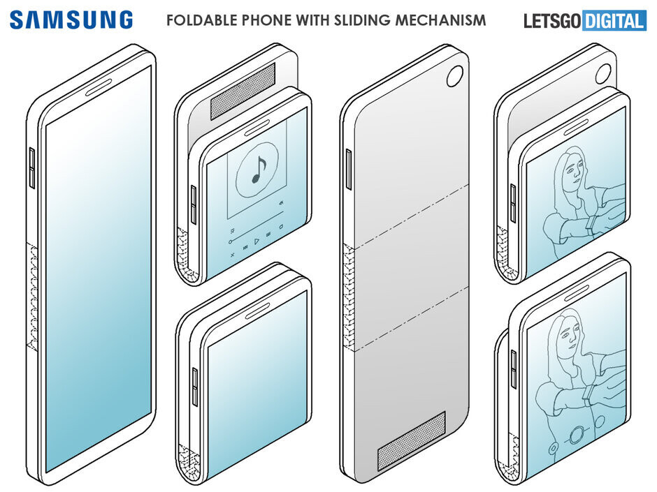 Early Samsung patents showing off the new format - Samsung's working on a Motorola Razr-like foldable phone