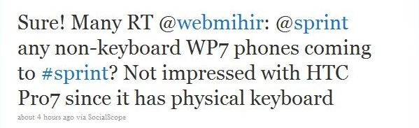 """Sprint to receive """"many"""" Windows Phone 7 devices"""