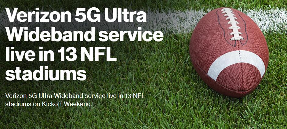 Verizon's 5G marketing strikes again with pseudo NFL stadiums 'coverage'
