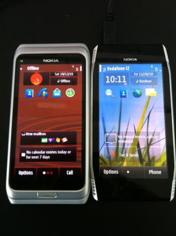 The Nokia X7 compared to the Nokia E7