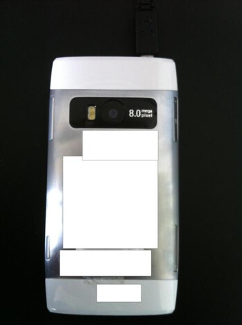 The back of the Nokia X7