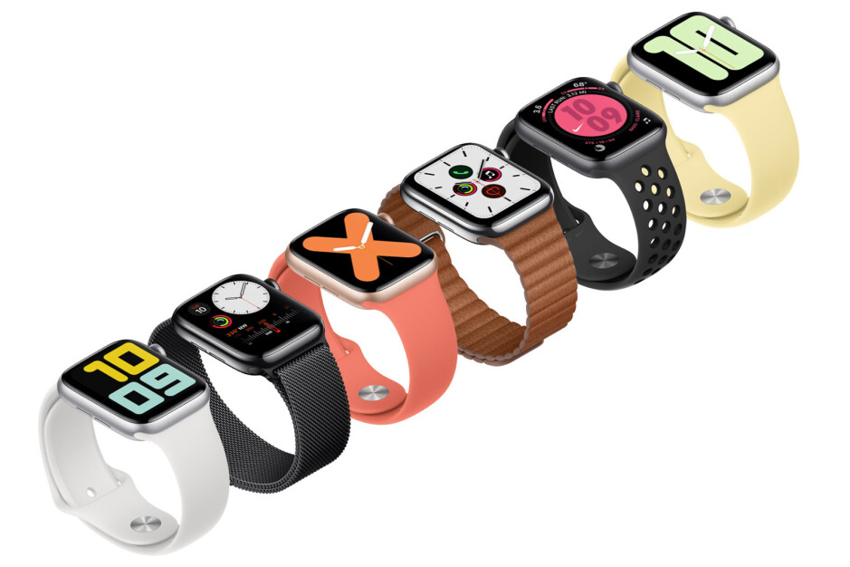 Watchfaces have a grayed out always on version and upon a tap or a flick of the wrist turn colorful - Apple Watch Series 5 is official: Always-On screen, Compass, $400 starting price