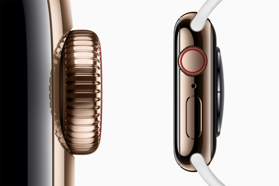 Stainless steel, very resistant to corrosion, Apple gave it a mirror-like finish and made it 80% harder via a special cold-forging process - Apple Watch Series 5 is official: Always-On screen, Compass, $400 starting price