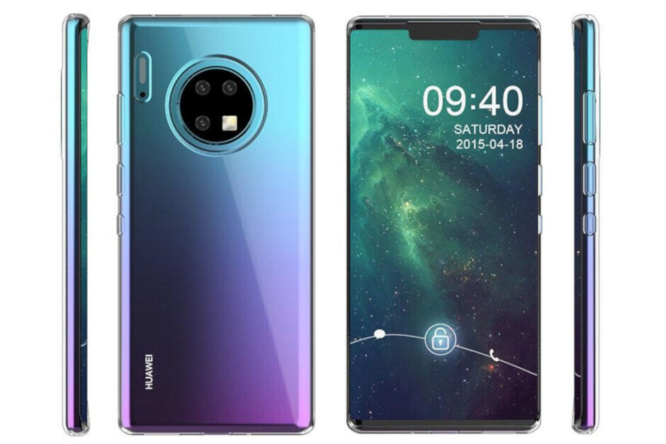 The Huawei Mate 30 Pro, seen in a case render, will be unveiled on September 19th - Huawei workaround could allow Mate 30 users to install Google apps on open-source Android