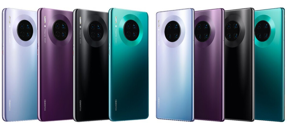 The Huawei Mate 30 (left) and Mate 30 Pro (right) - The Huawei Mate 30 Pro might not be sold in Europe