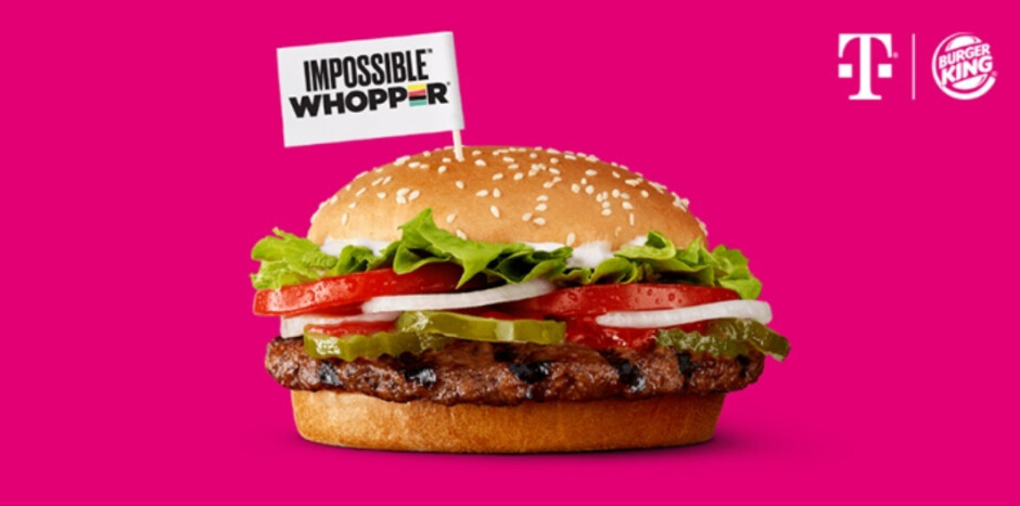 Next Tuesday, T-Mobile subscribers can try the beefless Impossible Whopper - T-Mobile has a lot on its plate, but wants to put something on your plate next Tuesday