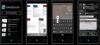 Handyscan makes your Windows Phone 7 device a mobile document scanner