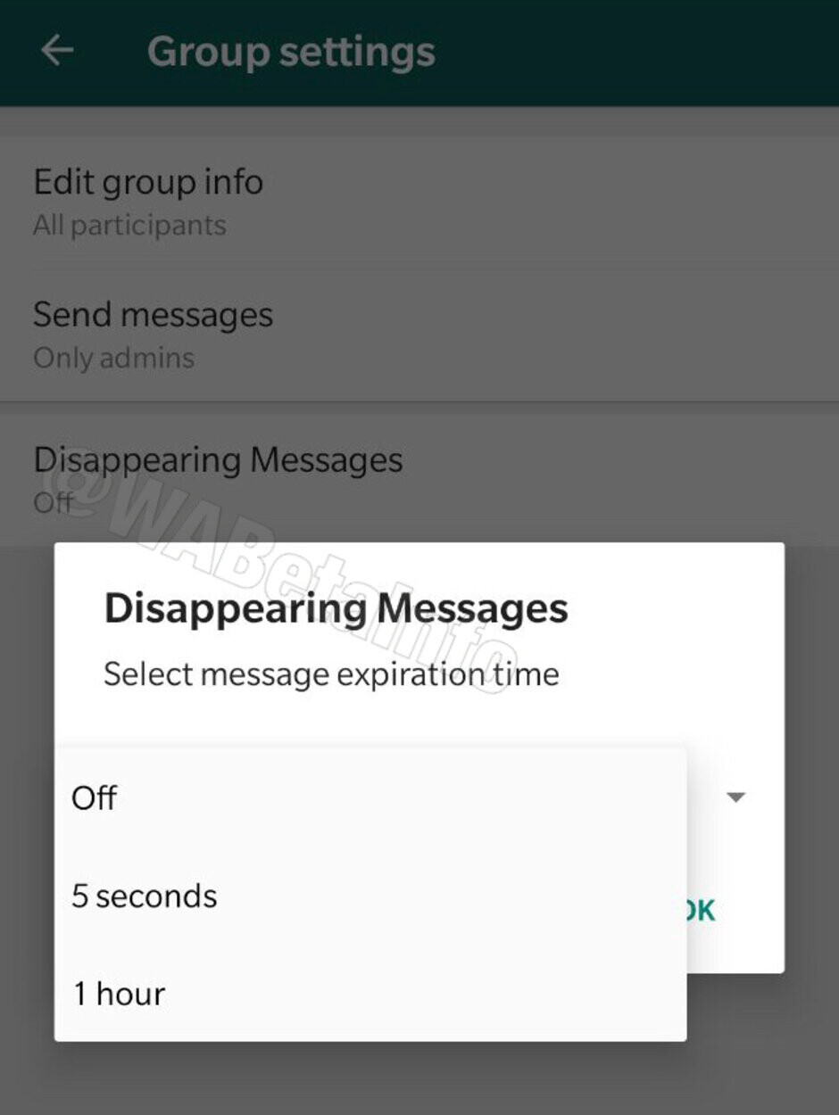 WhatsApp testing self-destructing messages feature
