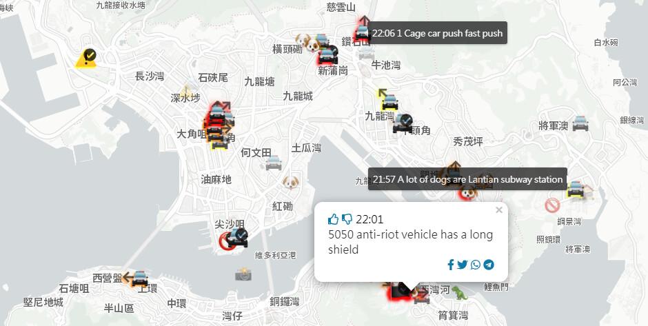 Bent on placating China, Apple bans a Hong Kong police location app