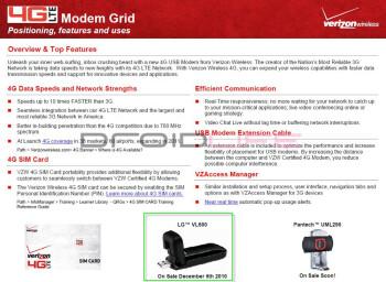 A look at Verizon's 4G modem lineup