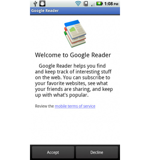 Google Reader provides the Android user with all of the same functions as the desktop version - Google Reader is ready to be installed on your Android phone as a native app