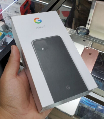 Top of the Pixel 4 retail box - This is the retail box for the Google Pixel 4