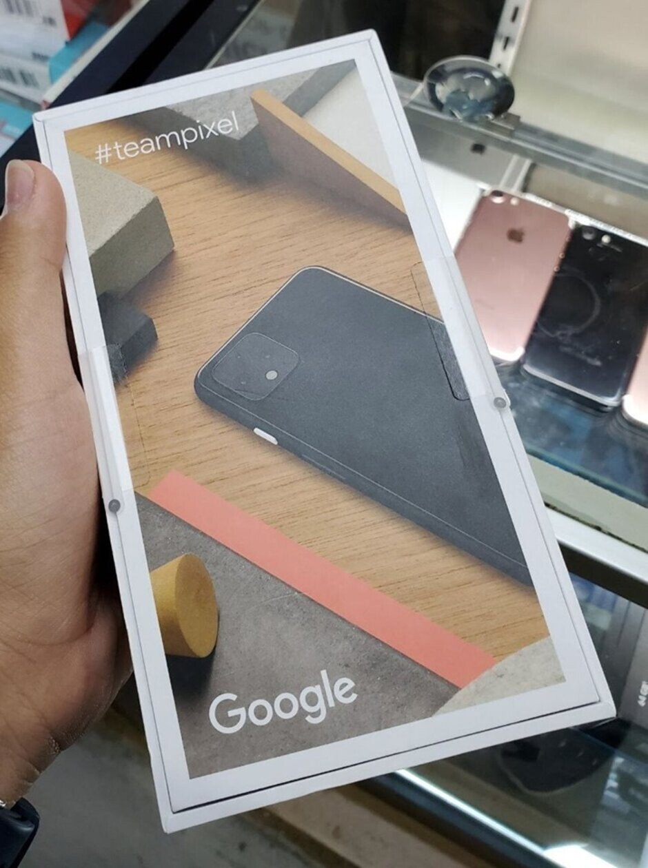Bottom of the Pixel 4 retail box - This is the retail box for the Google Pixel 4