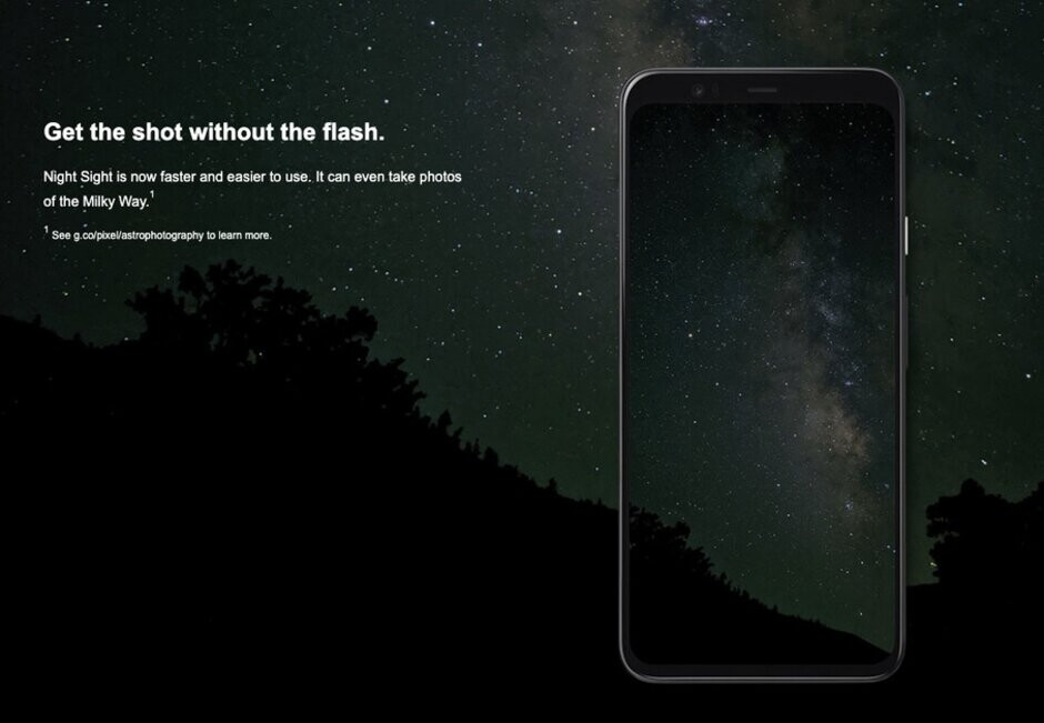 The astrophotography feature for the Pixel 4 line is promoted - Another retailer accidentally posts its Pixel 4 product page