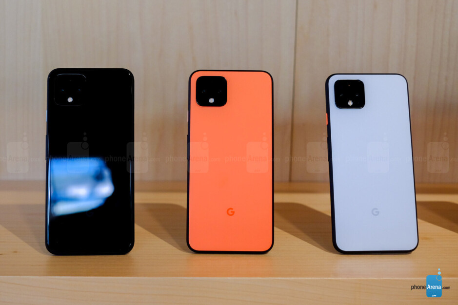 The Google Pixel 4 inJust Black, Clearly White, and limited edition Oh So Orange - Google Pixel 4 & Pixel 4 XL hands-on