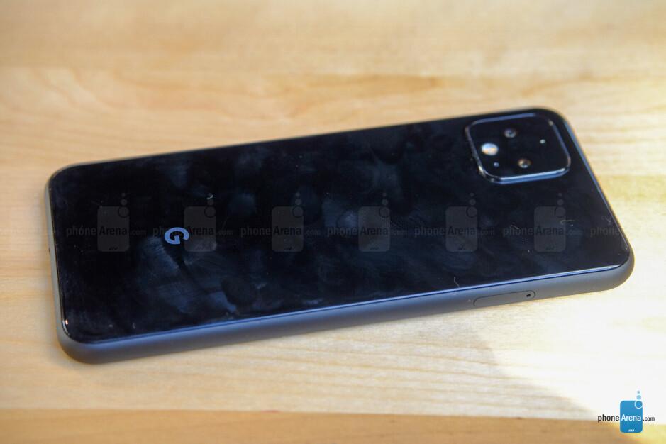 The black Pixel 4 collects fingerprints easily - Google Pixel 4 & Pixel 4 XL hands-on
