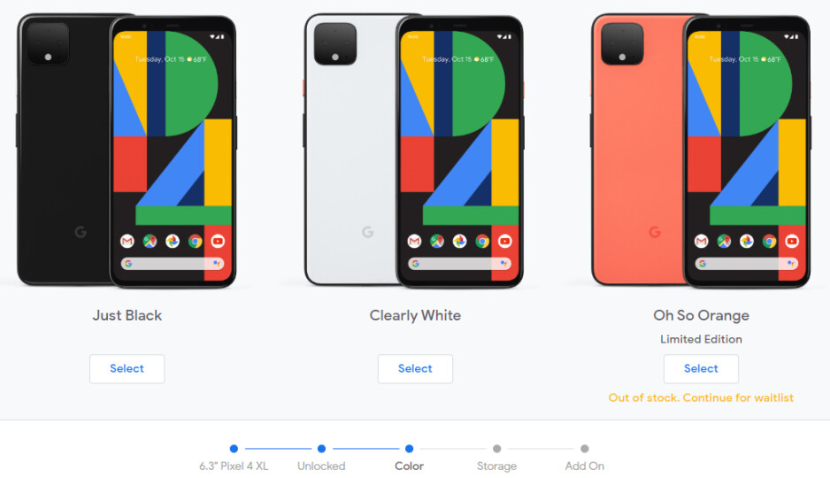 """The unlocked Google Pixel 4 XL in """"Oh So Orange"""" is already out of stock"""