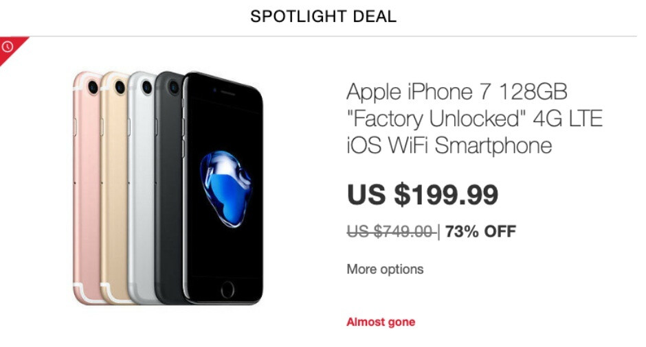 Apple's venerable iPhone 7 drops to $200 with 128GB storage in 'spotlight' eBay deal