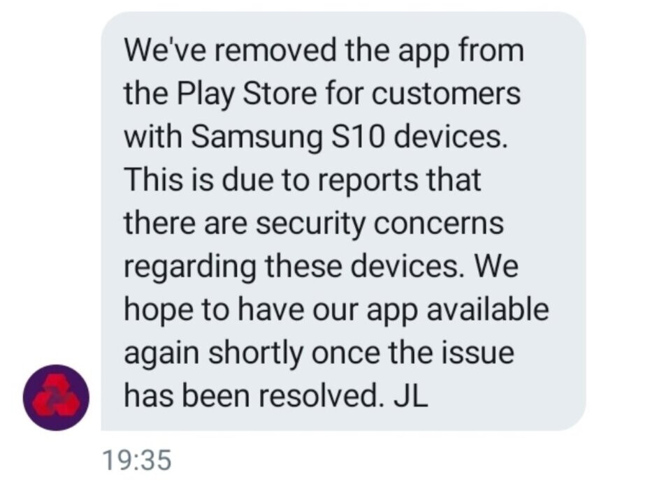 NatWest responds to the fingerprint bug on the Samsung Galaxy S10 and other models - Samsung's fingerprint bug could drain your bank account unless you take action