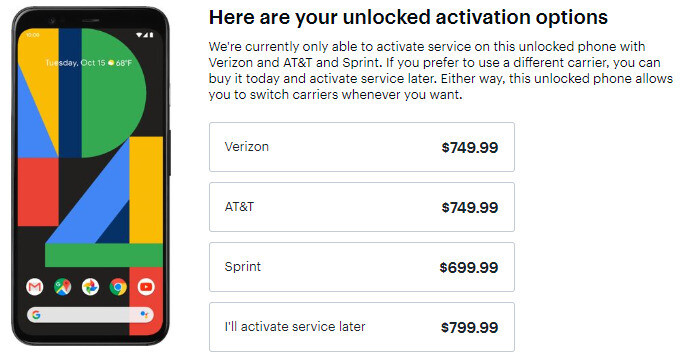 Prices for the unlocked Google Pixel 4 start at just $699.99 at Best Buy - Deal: Unlocked Google Pixel 4 and 4 XL are discounted at Best Buy (with activation on Verizon, AT&T, or Sprint)
