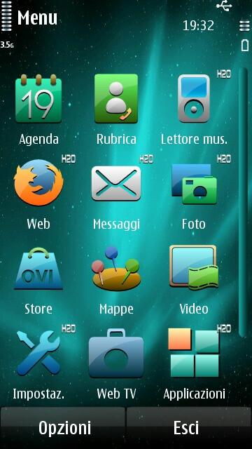 Screenshots of the H2O custom firmware on Nokia N8 - Nokia N8 gets treated with new custom firmware
